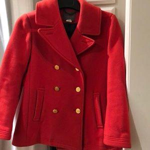 J Crew stadium cloth coat size 8P